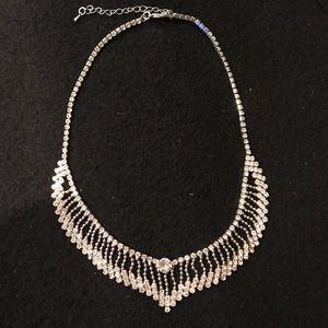 Dressy rhinestone choker necklace